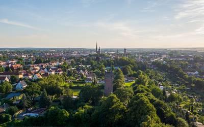 Luftbild Burg © Stadt Burg
